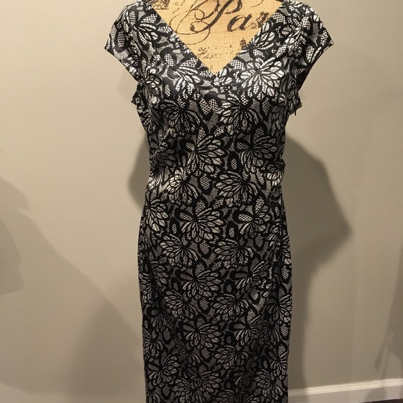 Maggy London Dresses Lace Print Midi Dress Poshmark